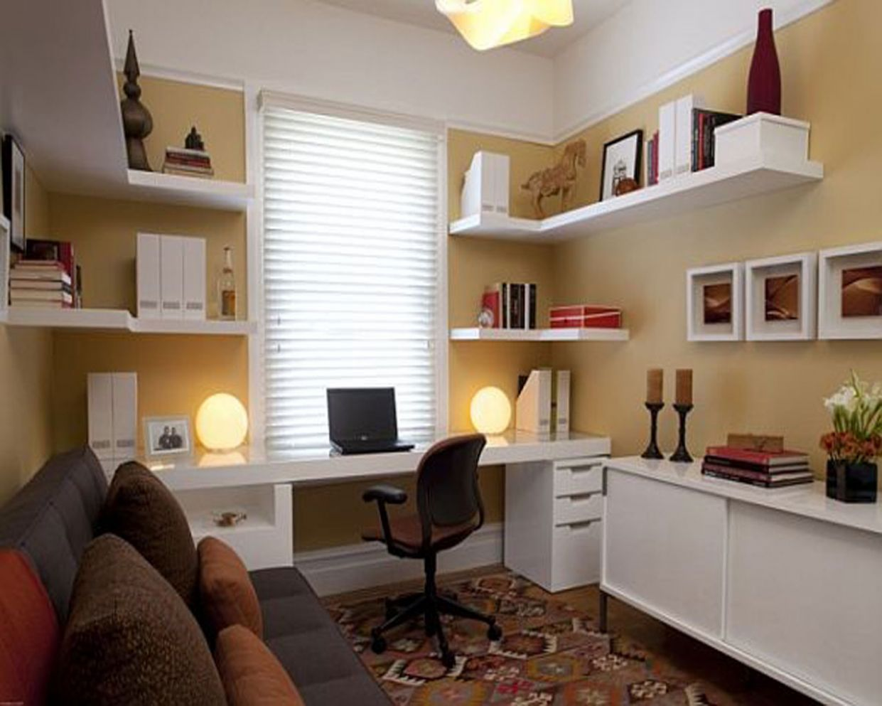 Home Office Apartment Ideas - Small Home Office With Couch ...