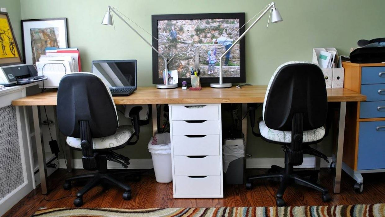 Home Office Design Ideas For Two - home office ideas with two desks