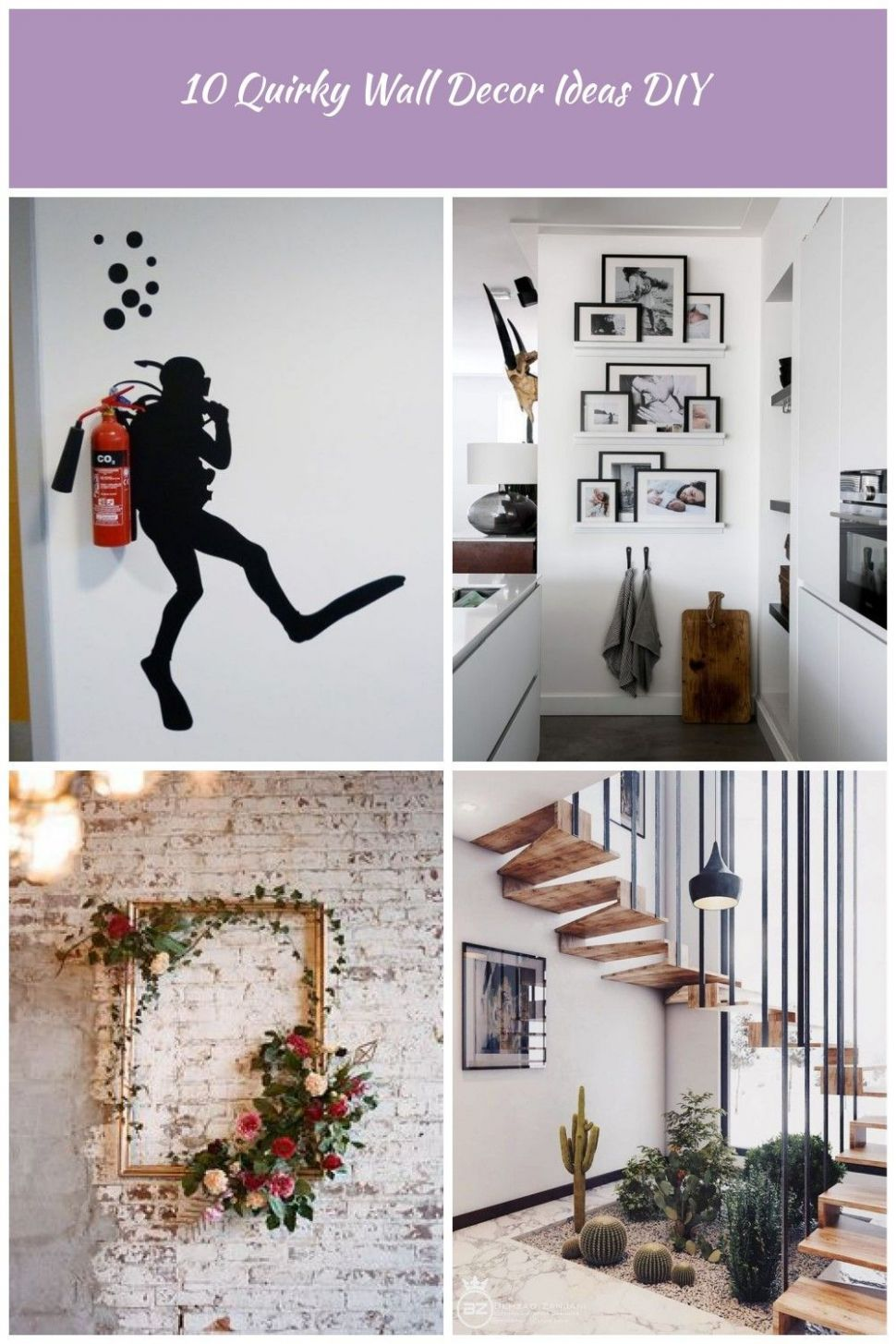 HomelySmart | 11 Quirky Wall Decorating Ideas diy Interior design ..