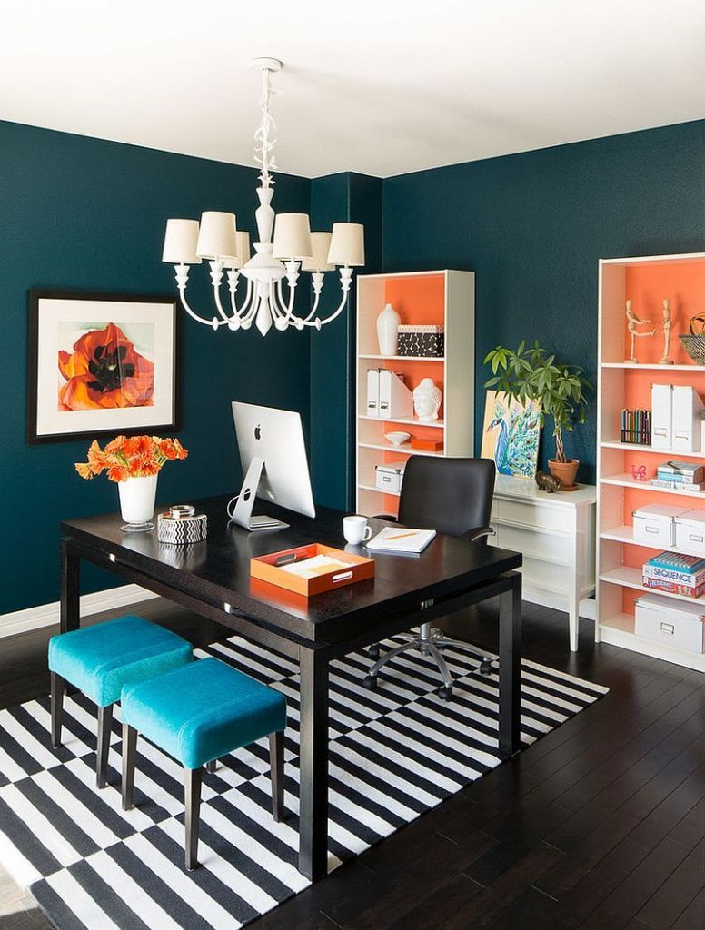 Hot Trend: 12 Vibrant Home Offices with Bold Orange Brilliance ...