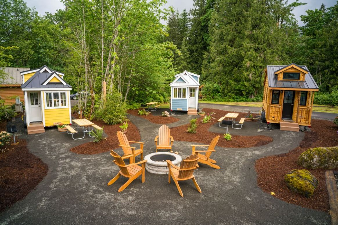 How I survived a tiny home vacation—with two kids - Curbed - tiny house village