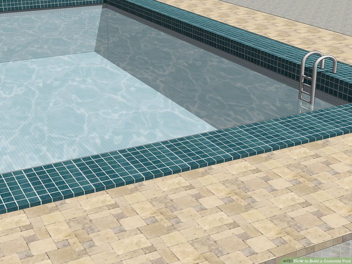 How to Build a Concrete Pool (with Pictures) - wikiHow - pool tile ideas for steps