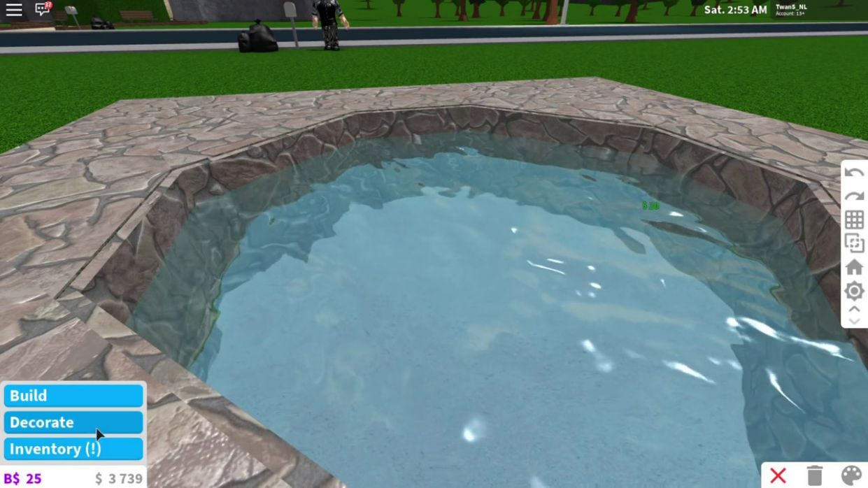 How to build a nicely curved pool in Welcome to Bloxburg! - pool ideas in bloxburg
