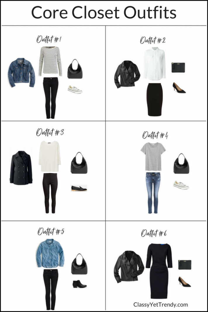 How To Create Outfits With A Core Closet: 8 Outfit Ideas (Classy ..
