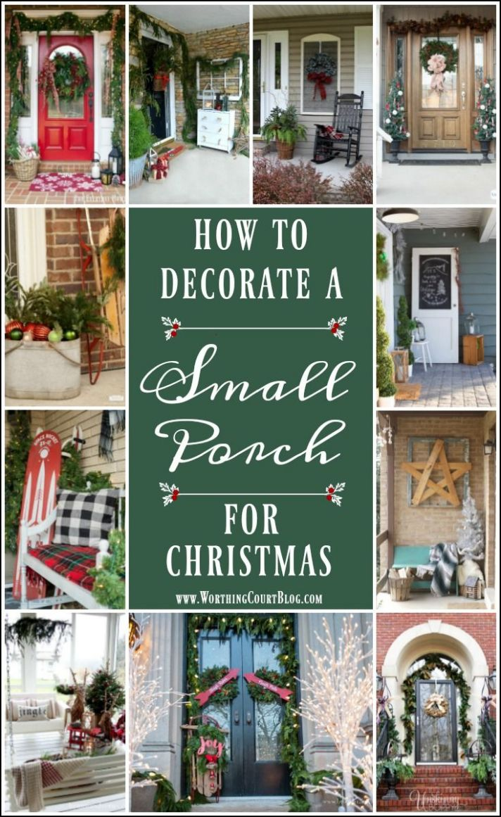 How To Decorate A Small Porch For Christmas | Beautiful christmas ...