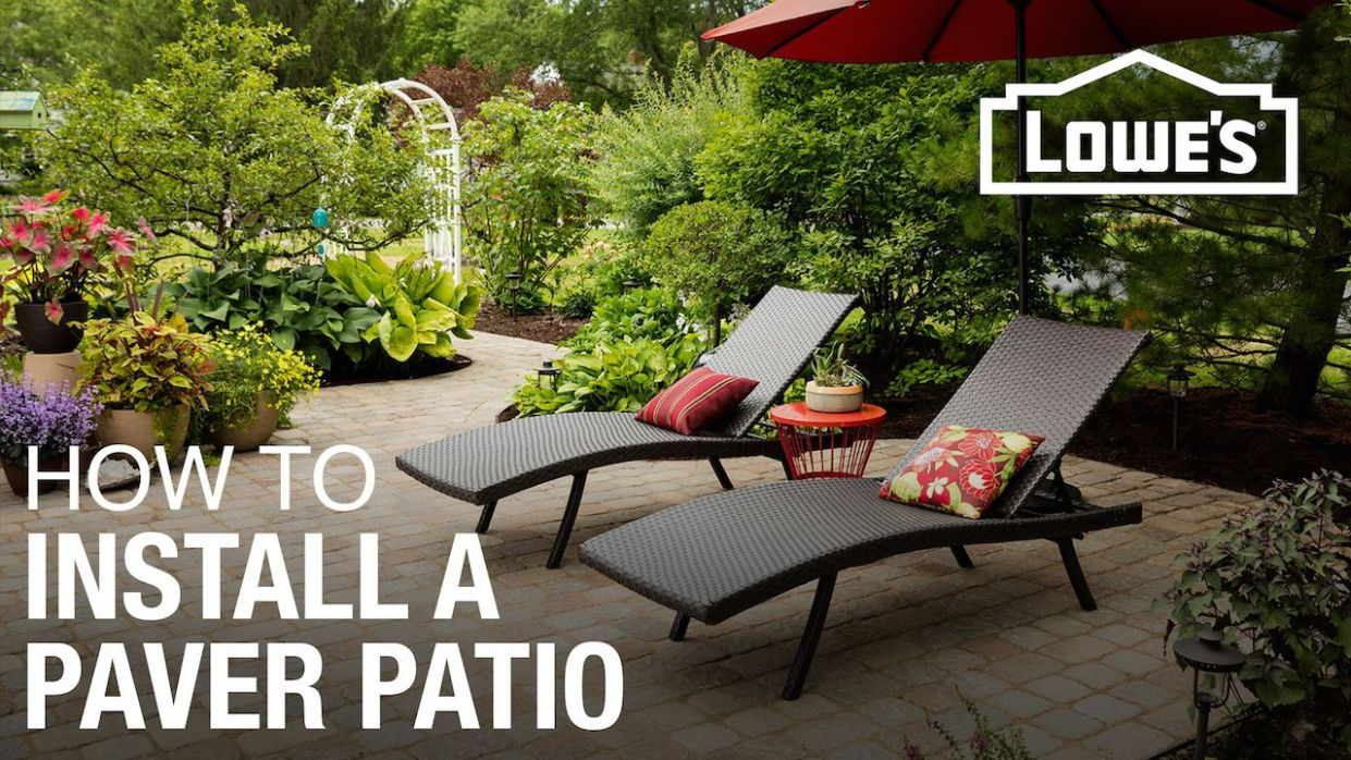 How to Design and Build a Paver Patio - backyard ideas lowes