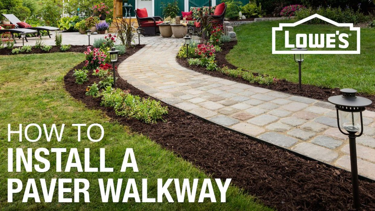 How to Design and Build a Paver Walkway - backyard ideas lowes