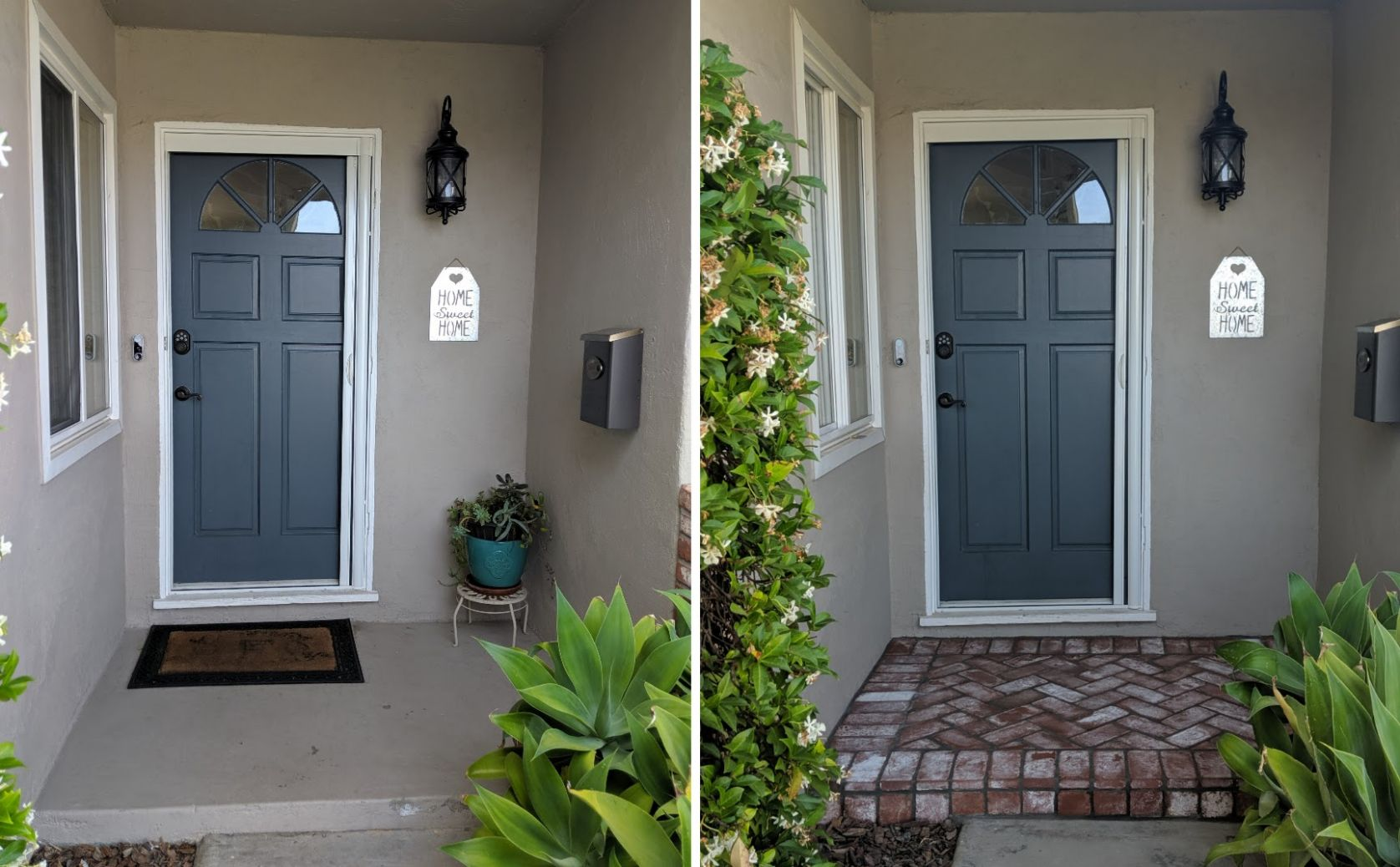 How to DIY Makeover your Front Porch Entryway while on a Budget ...