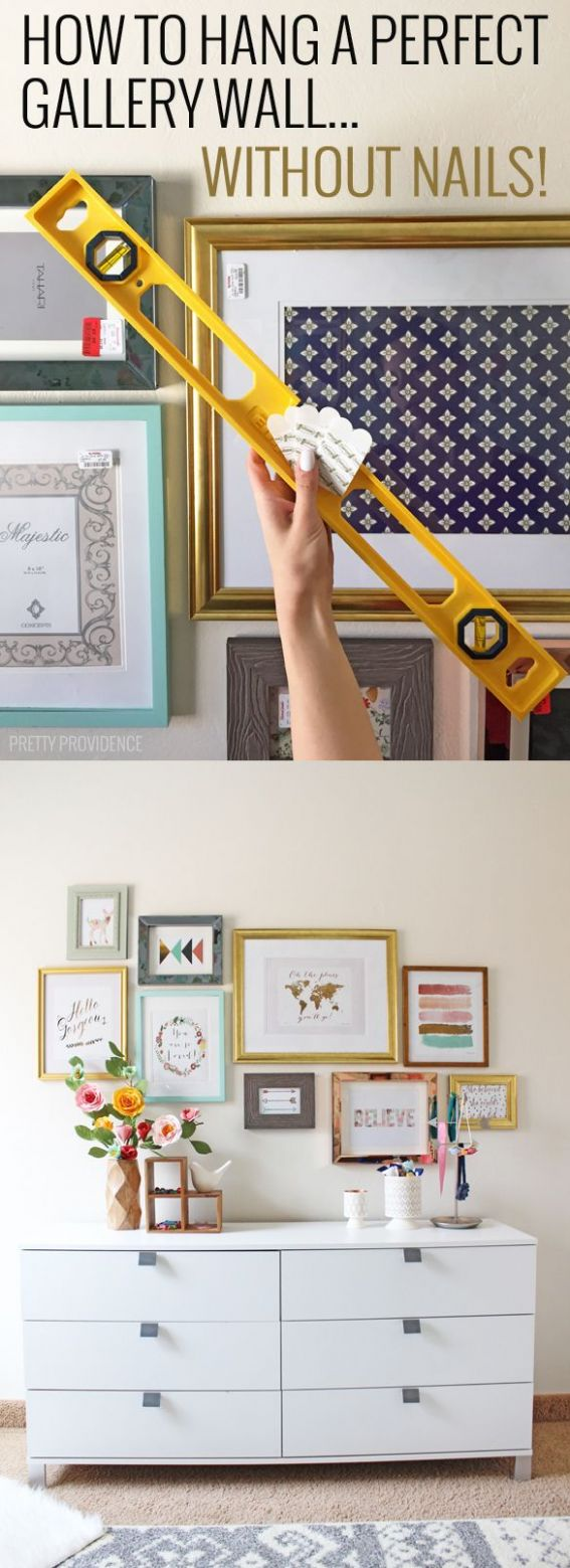 How to Hang a Perfect Gallery Wall... Without Nails | Home goods ...