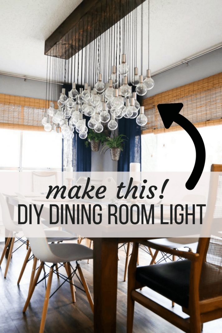 How to make a gorgeous DIY dining room light | Dining room ..