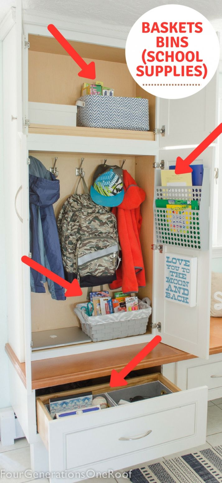 How to make a school locker at home: Organization 11 - Four ..