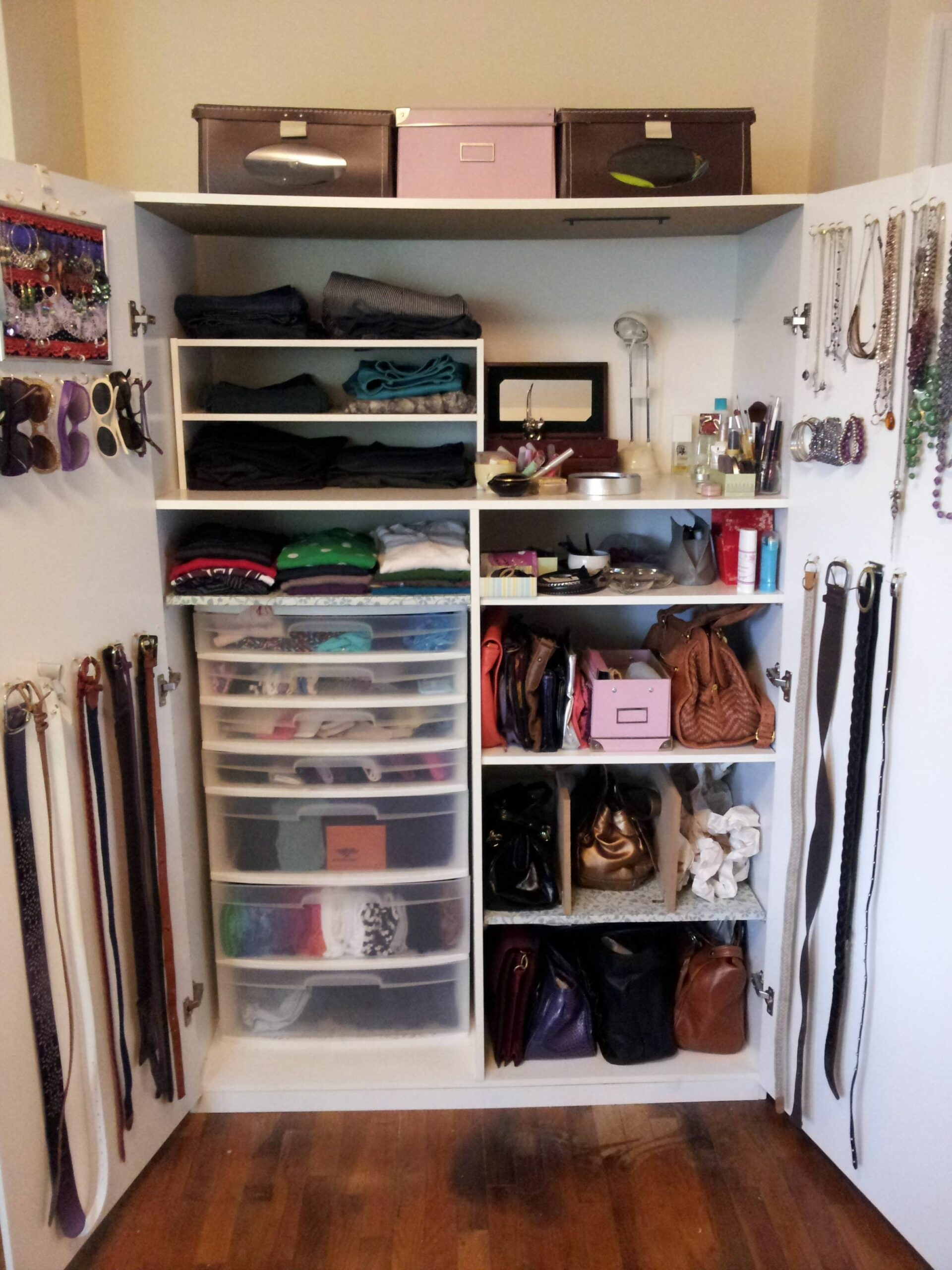 How to Organize A Lot of Clothing in Very Little Closet Space