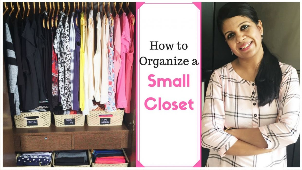 How To Organize A Small Closet- Closet organization Ideas - small closet ideas youtube