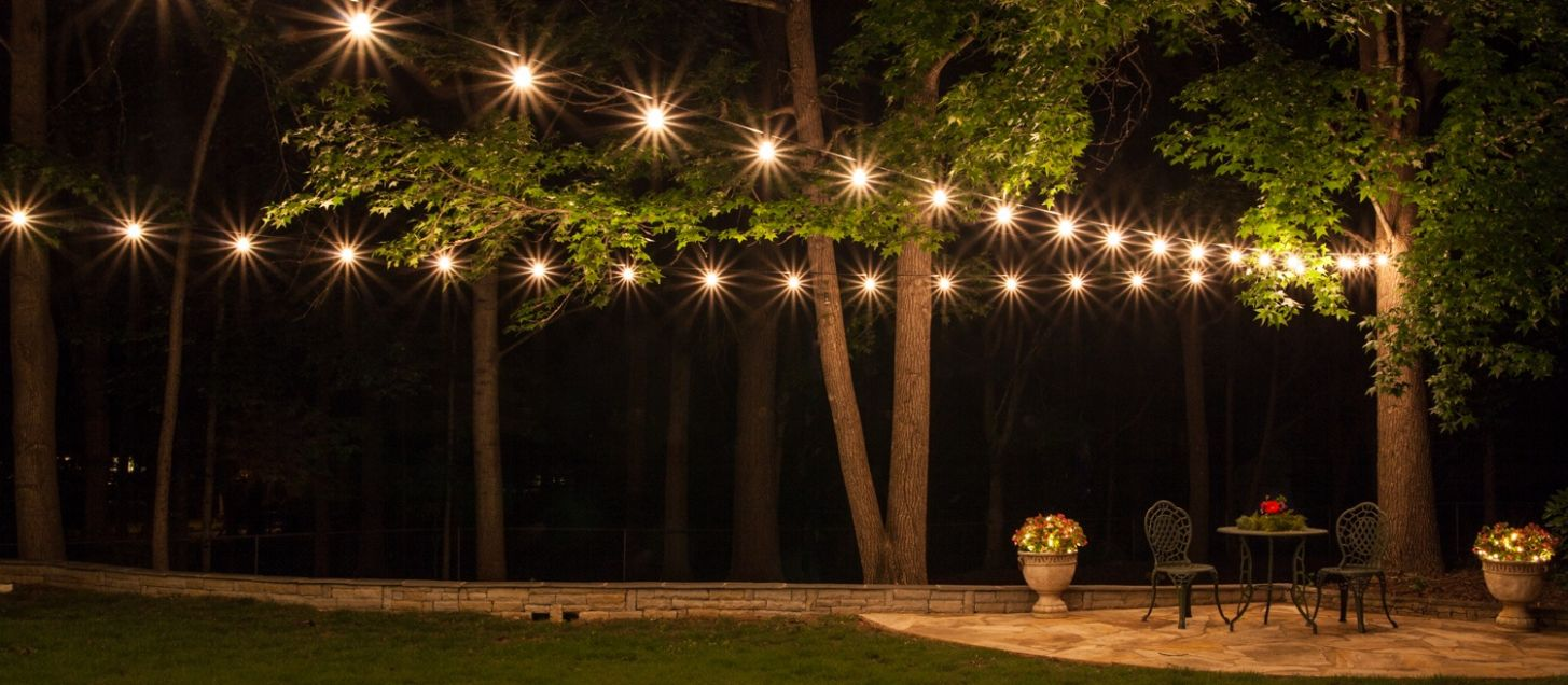 How to Plan and Hang Patio Lights - backyard ideas lights