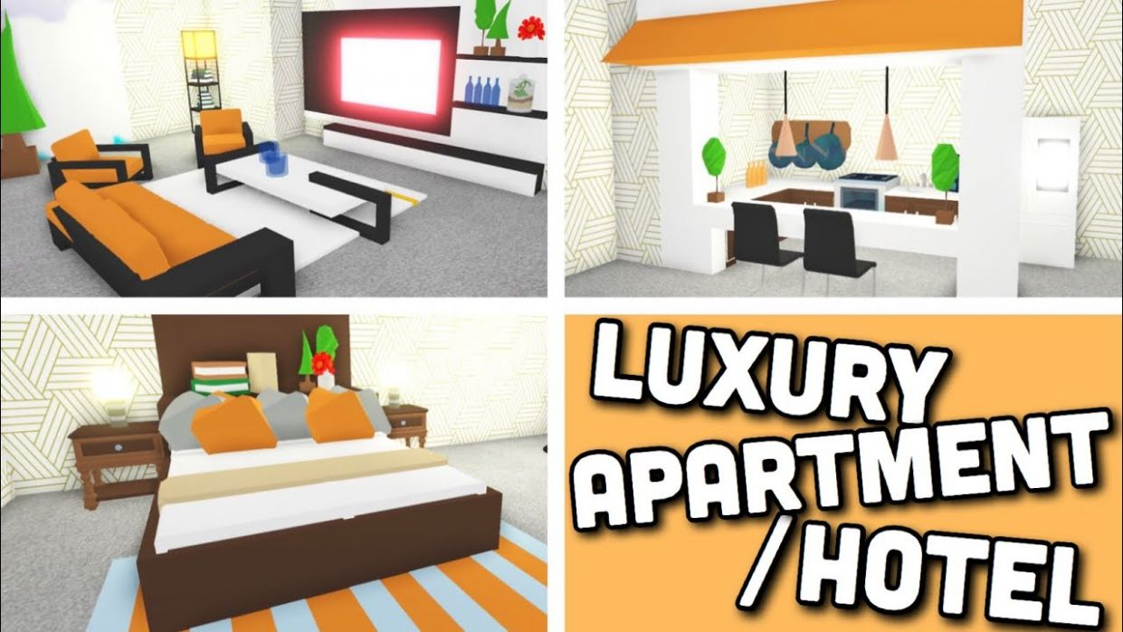 I made a Luxury APARTMENT/HOTEL ROOM using NEW Design Ideas & Building  Hacks | Adopt me Roblox - kitchen ideas adopt me