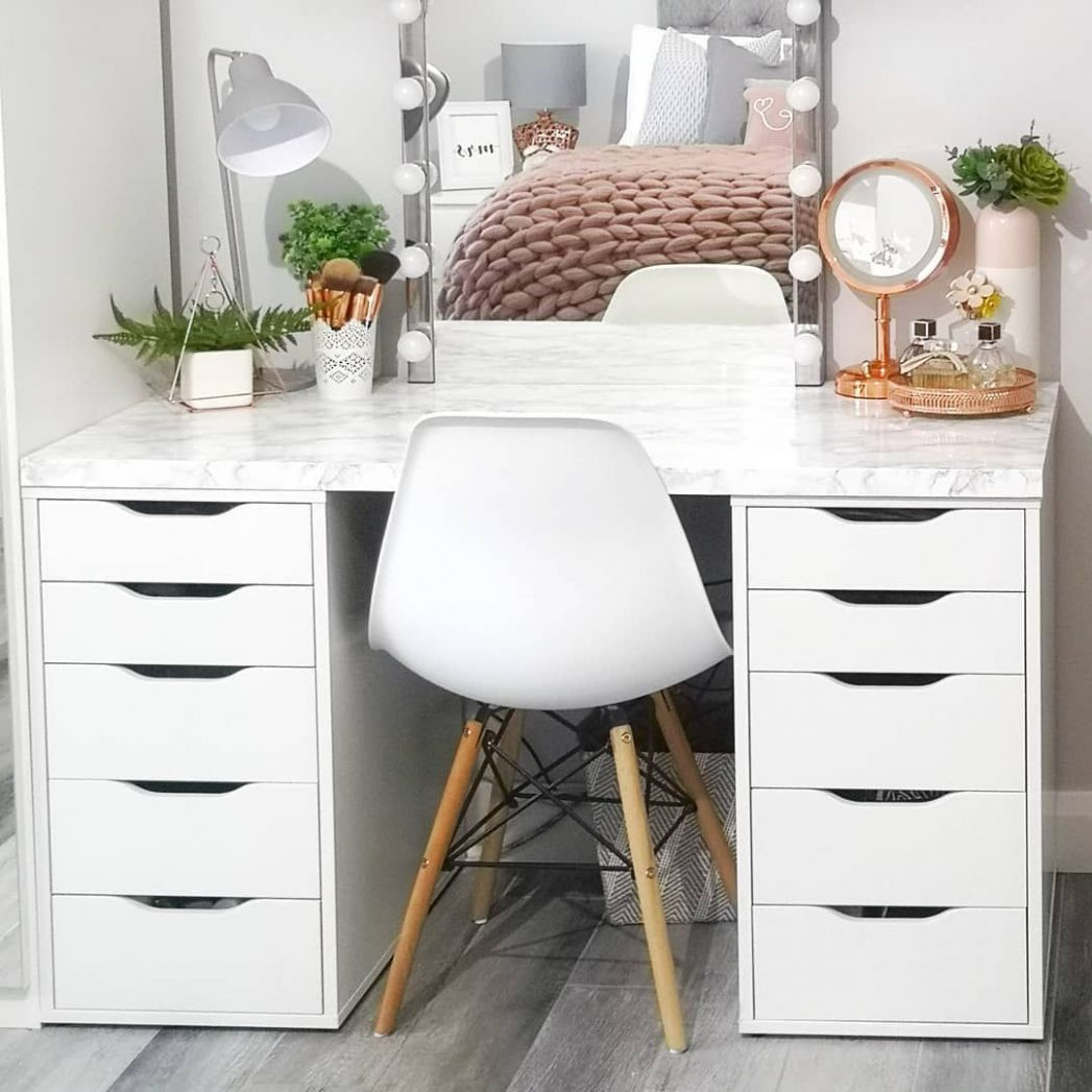 IKEA hack dressing table | Bedroom dressing table, Dressing table room - makeup room vanity ikea