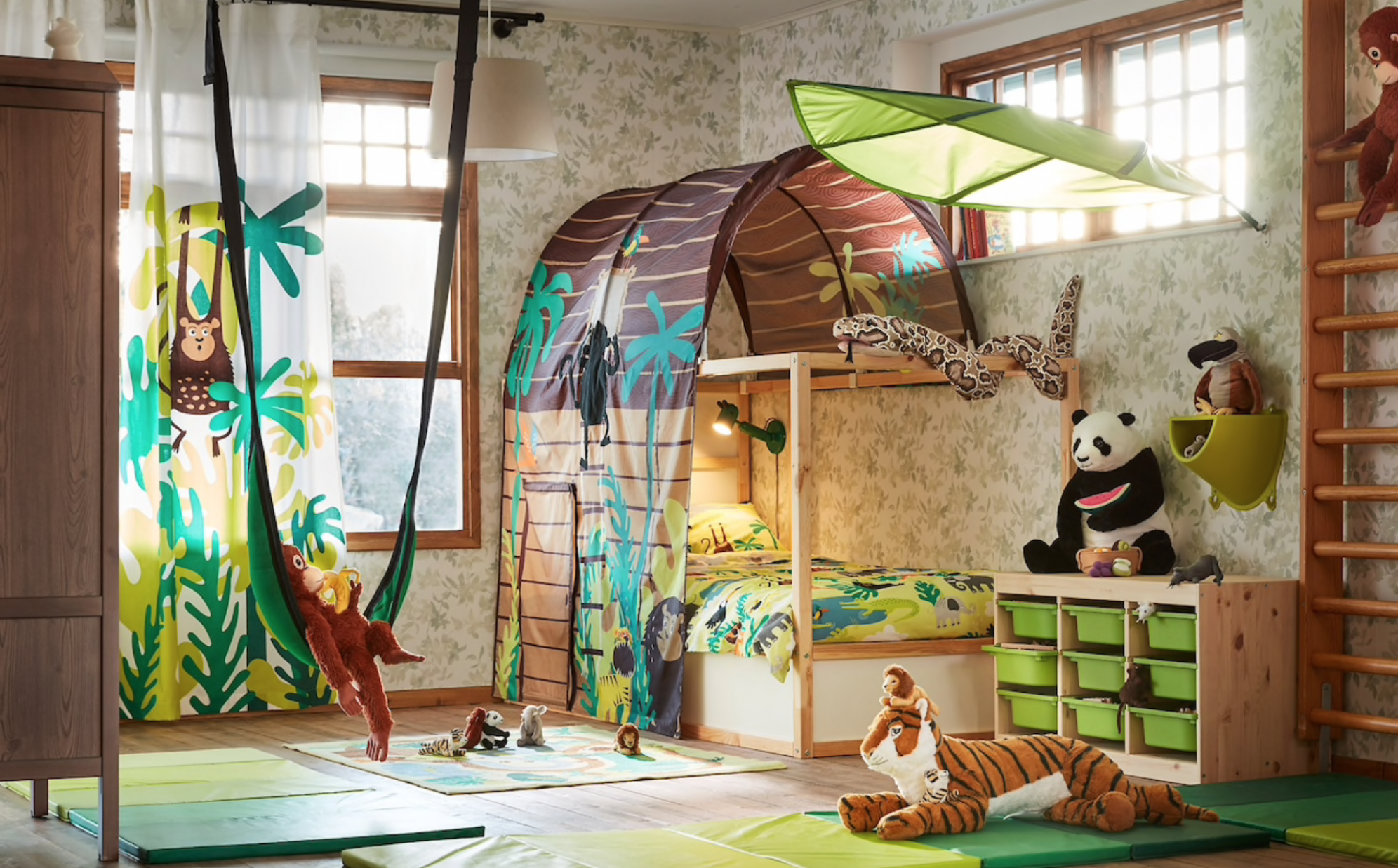 Ikea jungle inspired room idea for kids #Kidsroomideas (With ...