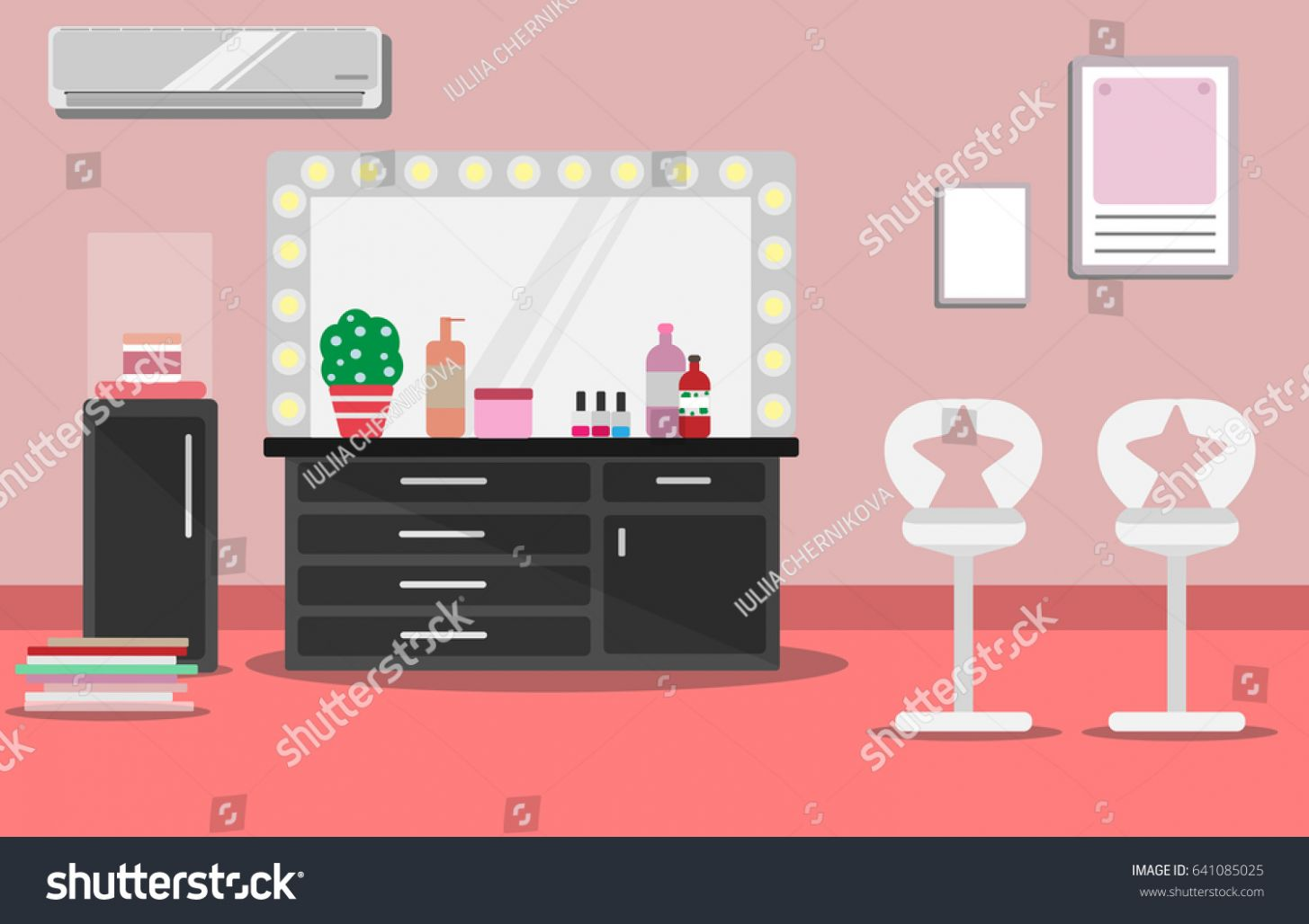 Illustration Interior Beauty Salon Makeup Room Stock-Vektorgrafik ..