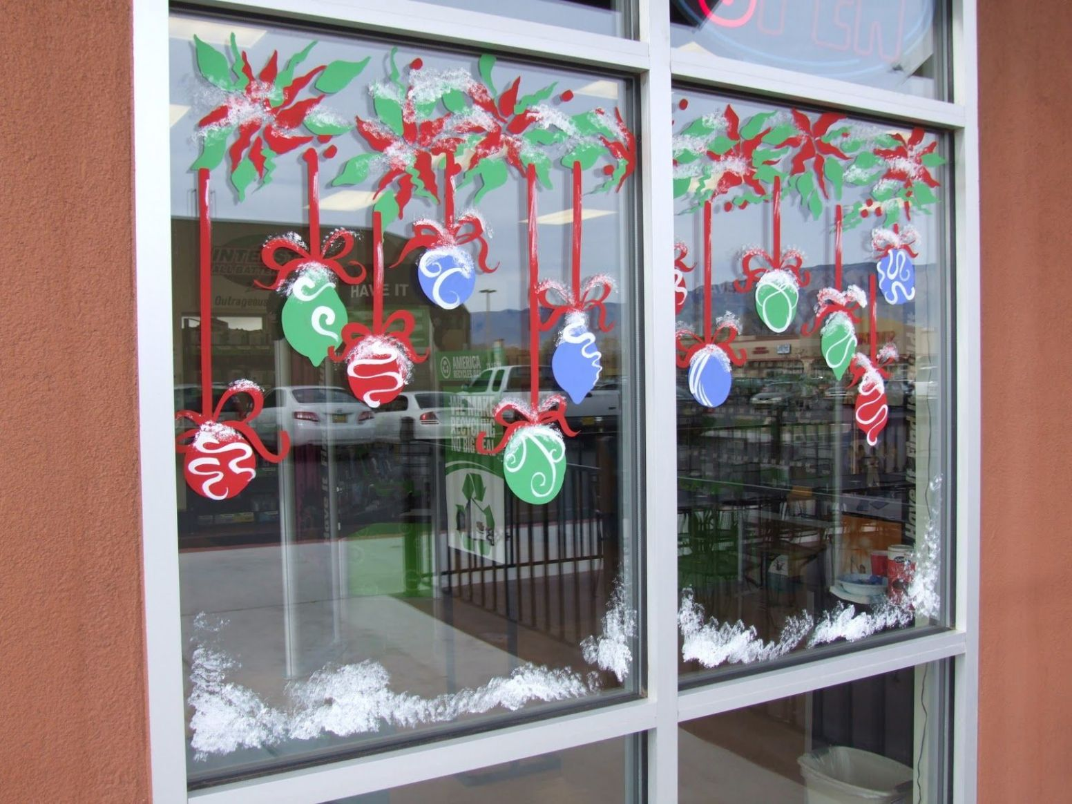 Image result for holiday window painting ideas | Weihnachtsbild ..
