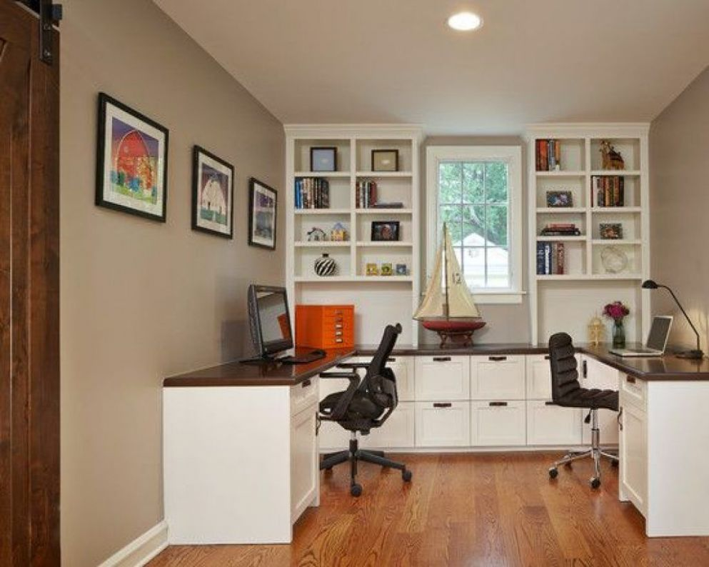 Image result for nice home office desk setup for two people | Home ..