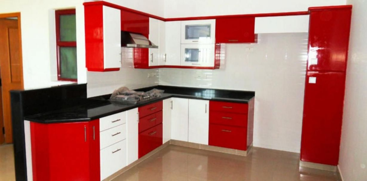 Image result for red white and black kitchen ideas | Red, white ...