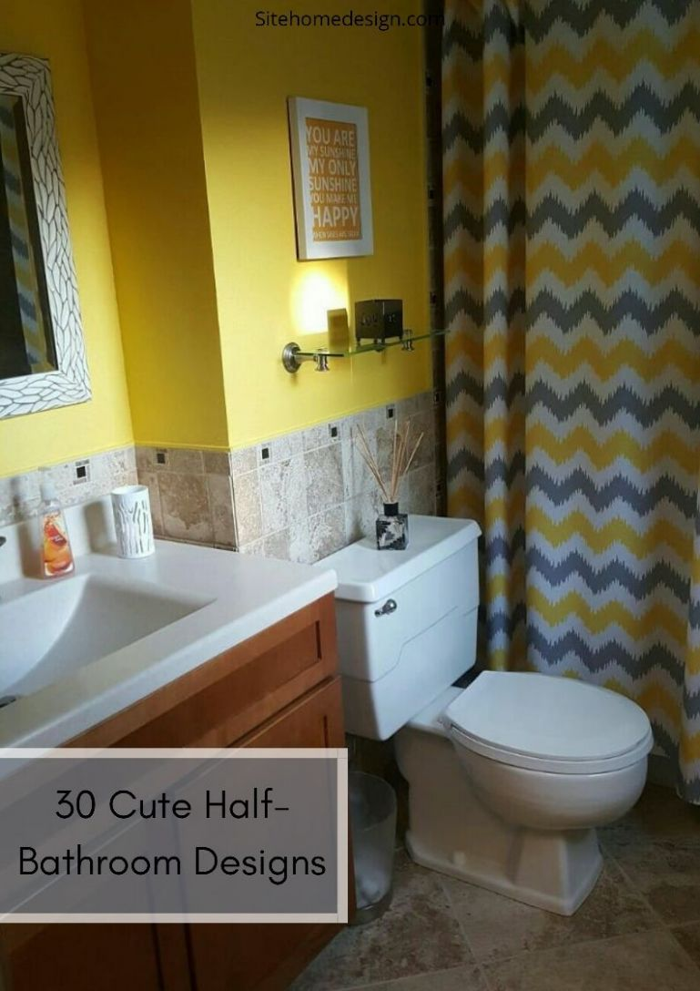 Impress Your Visitors with These 8 Cute Half-Bathroom Designs ..