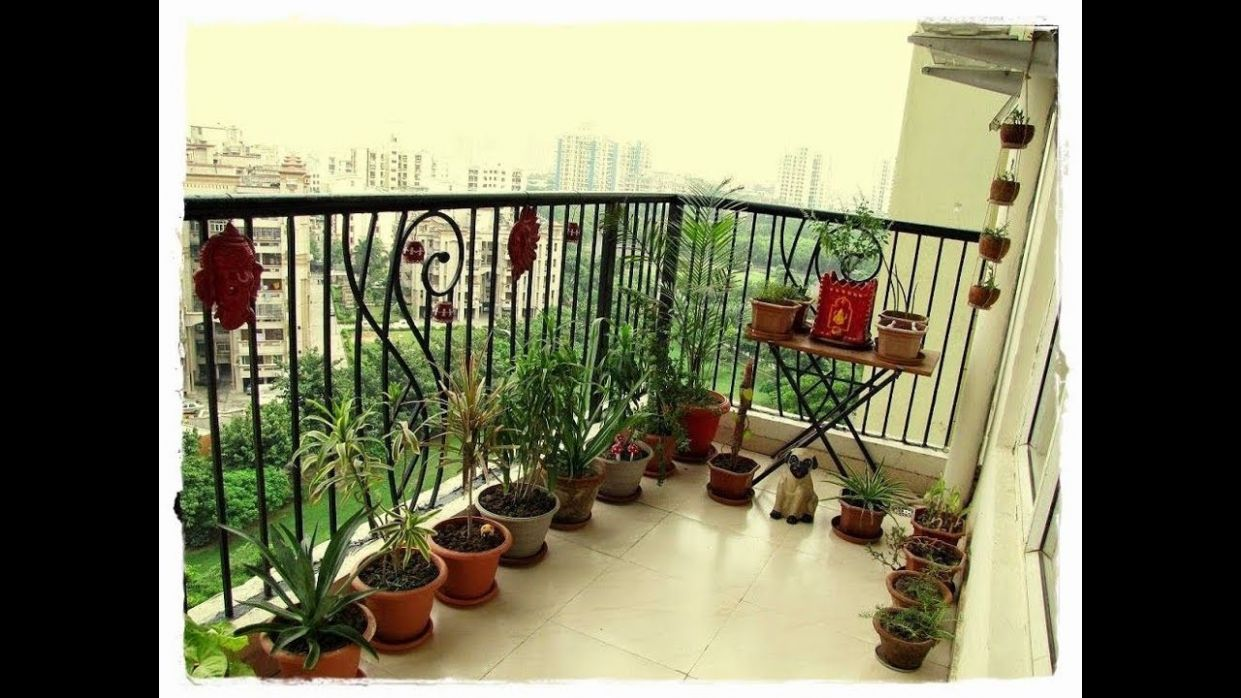 Indian apartment garden balcony decoration ideas - balcony ideas for apartments india