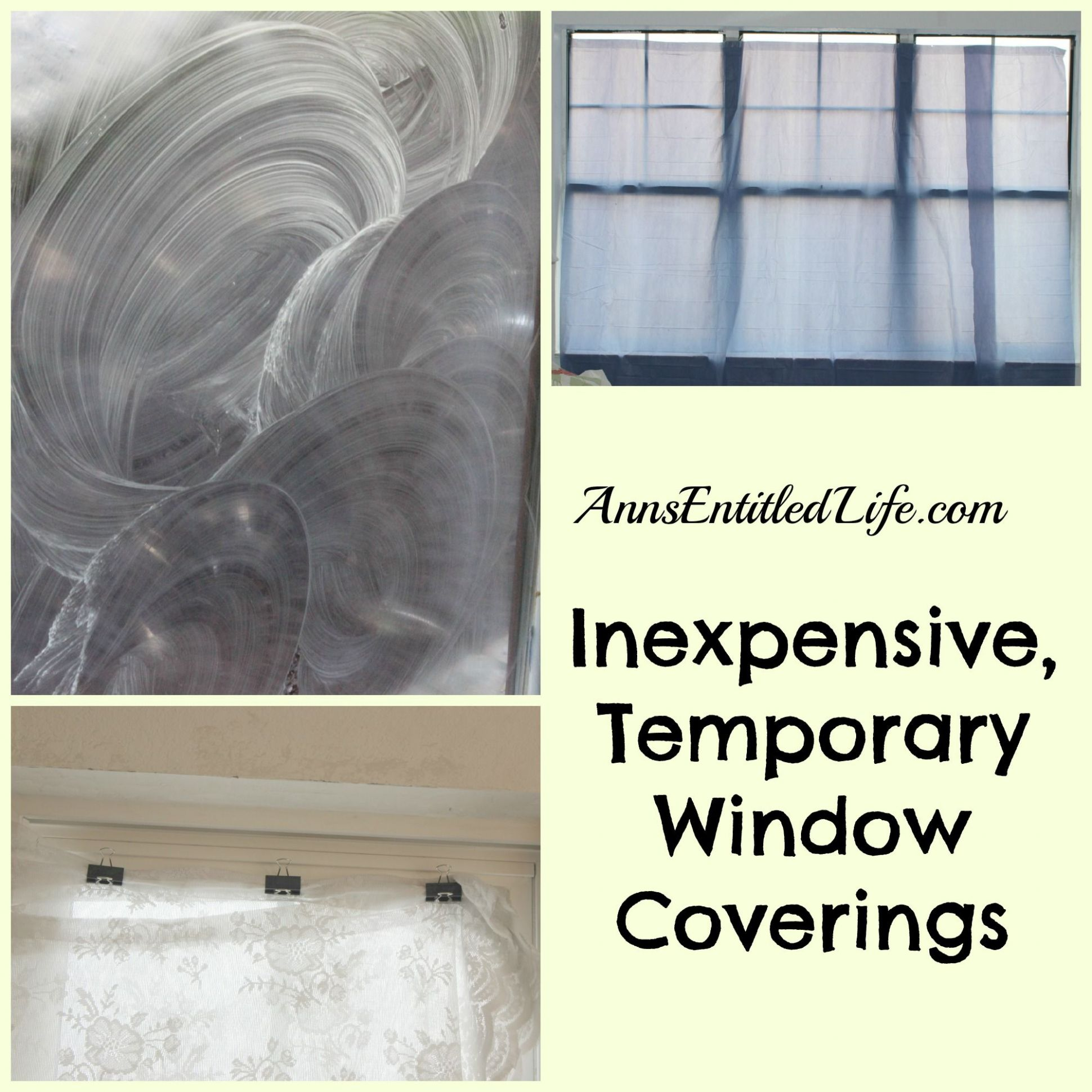 Inexpensive, Temporary Window Coverings - temporary privacy ...