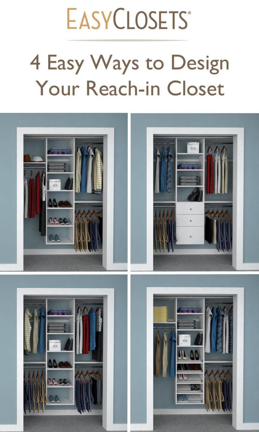 Infographic: 10 Easy Ways to Design Your Reach-in Closet | Closet ...