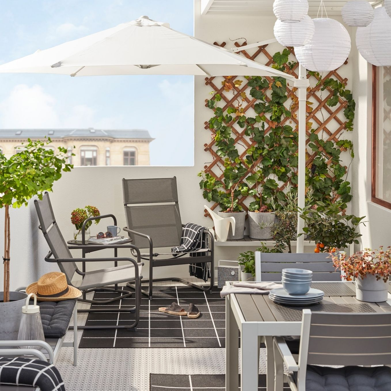 Inspiration for small outdoor spaces - Balcony ideas - IKEA - balcony ideas furniture