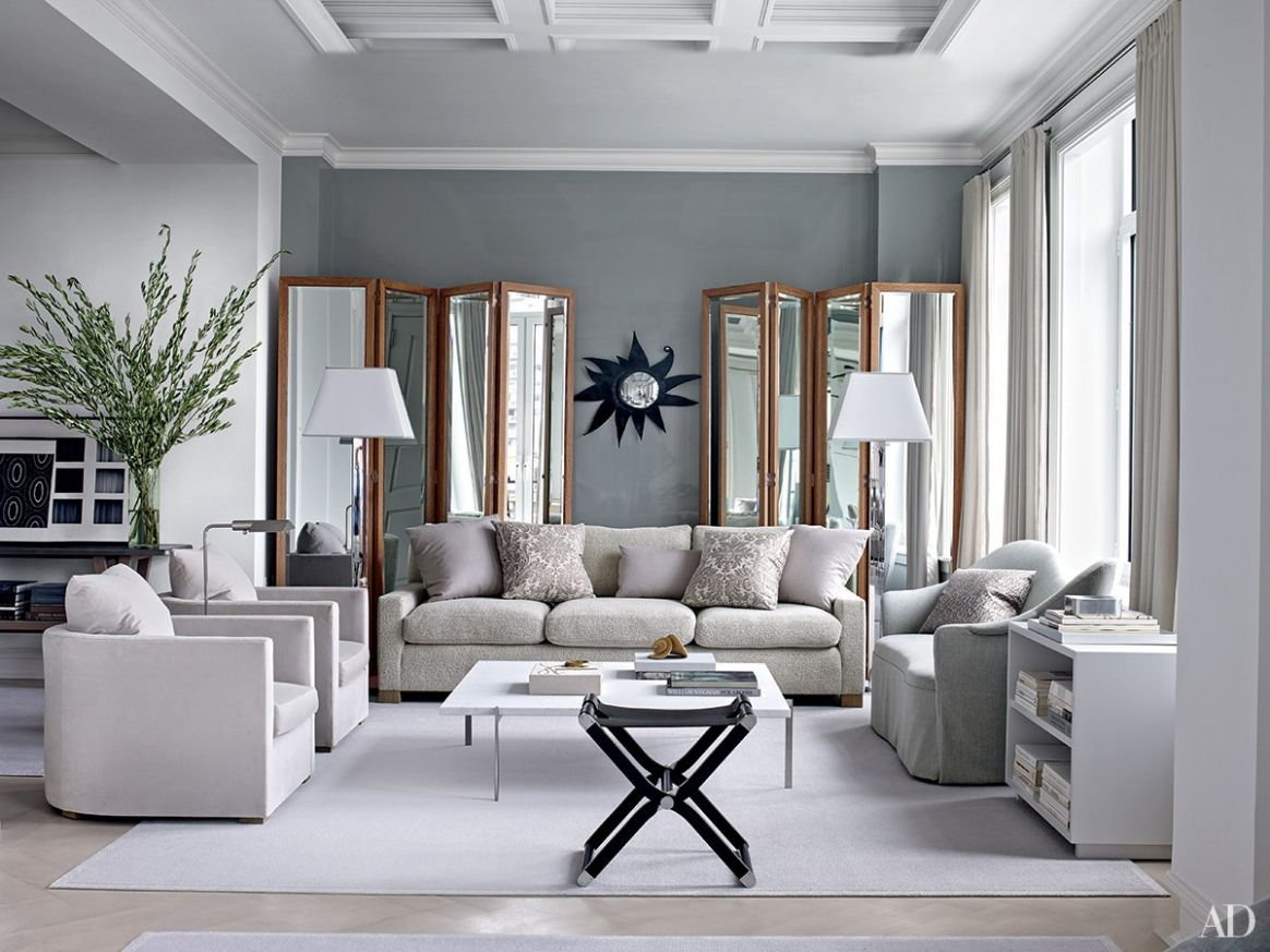 Inspiring Gray Living Room Ideas | Architectural Digest