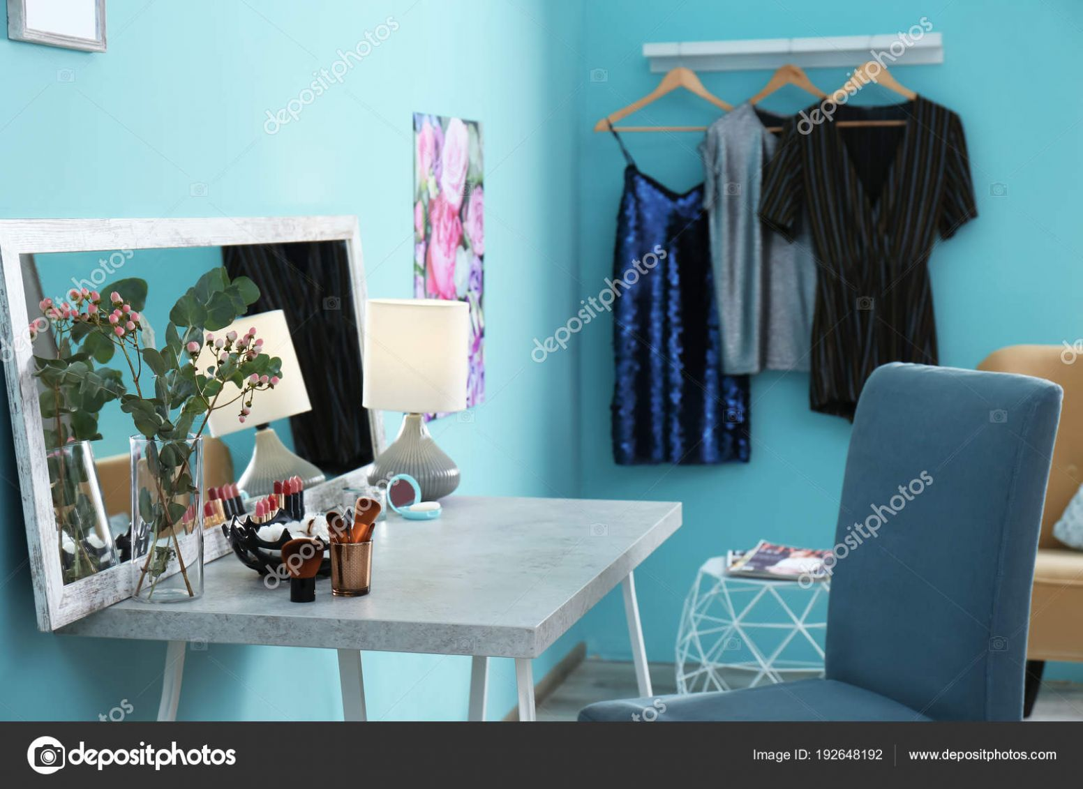 Interior of modern makeup room — Stock Photo © liudmilachernetska ...