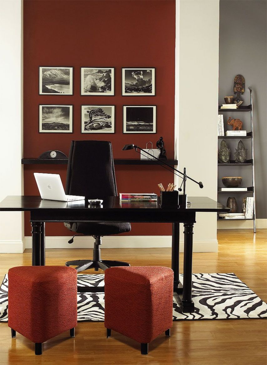 Interior Paint Ideas and Inspiration   Home office colors, Purple ..