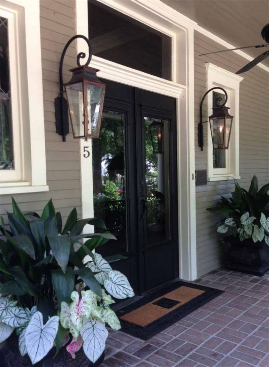 Italianate Gas Lights for front porch. | Porch lighting, House ..