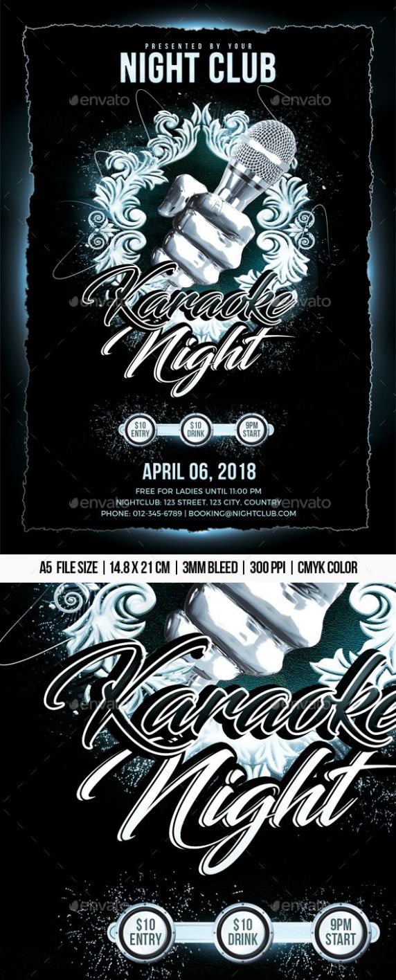Karaoke Night #Karaoke Night flyer #karaoke night party Download ...