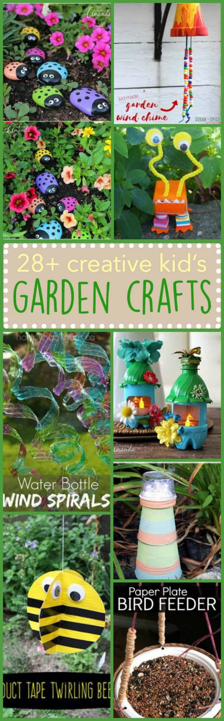 Kid's Garden Crafts: 12+ creative ideas for the little ones