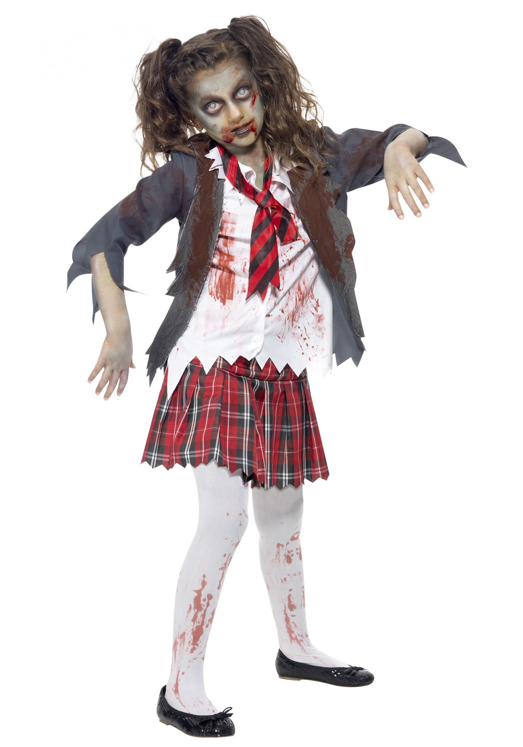Kids Zombie School Girl Costume - halloween costume ideas zombie