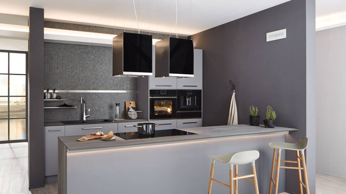Kitchen colour trend topic, ideas for designing a grey kitchen ...