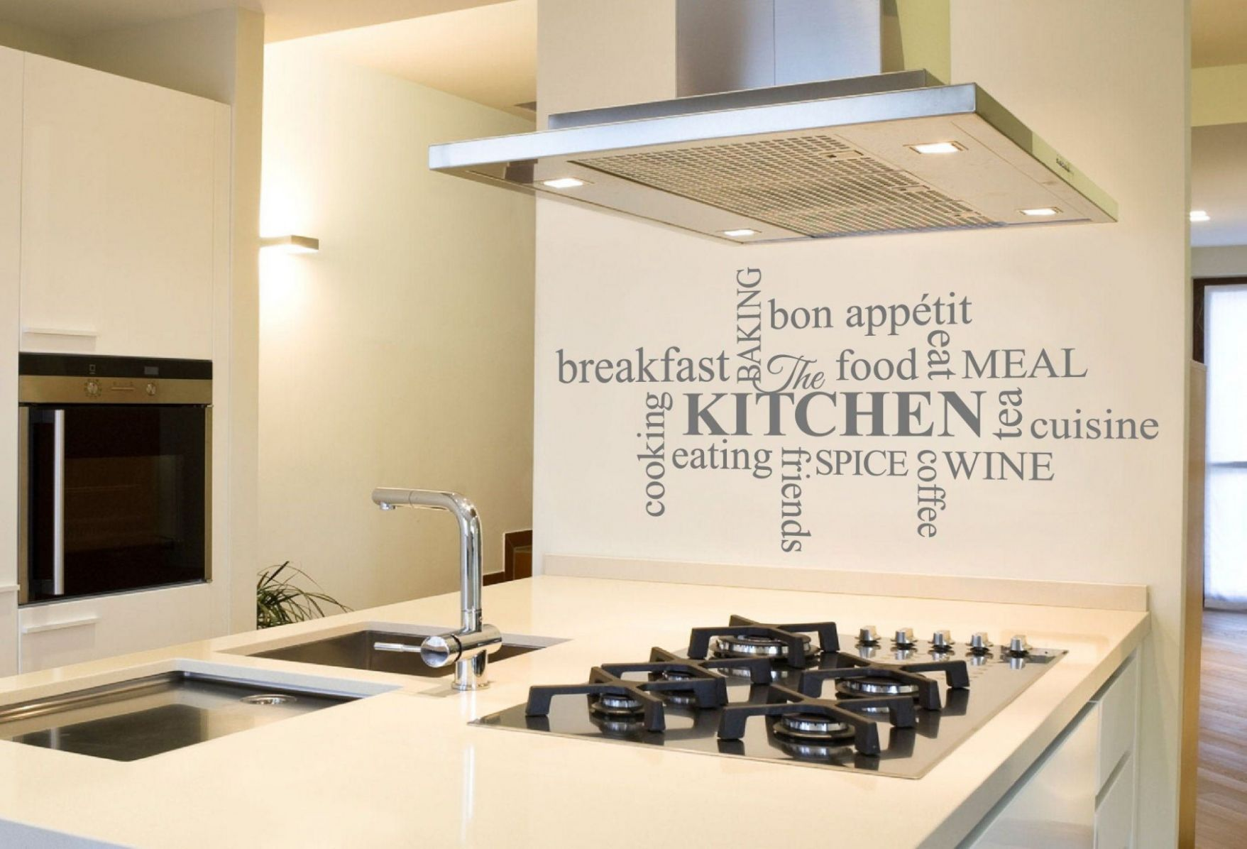Kitchen Word Art Sticker Kitchen Wall Art Kitchen Decor : Home ...