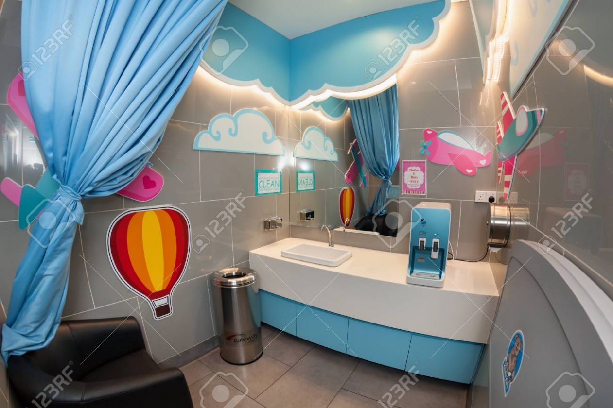 Kuala Lumpur, Malaysia - August 10, 10: Baby care room equipped..