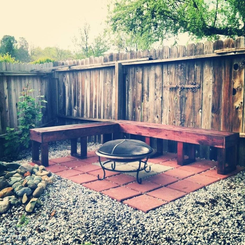 L shaped bench - DIY - make your own furniture - fire-pit court ..
