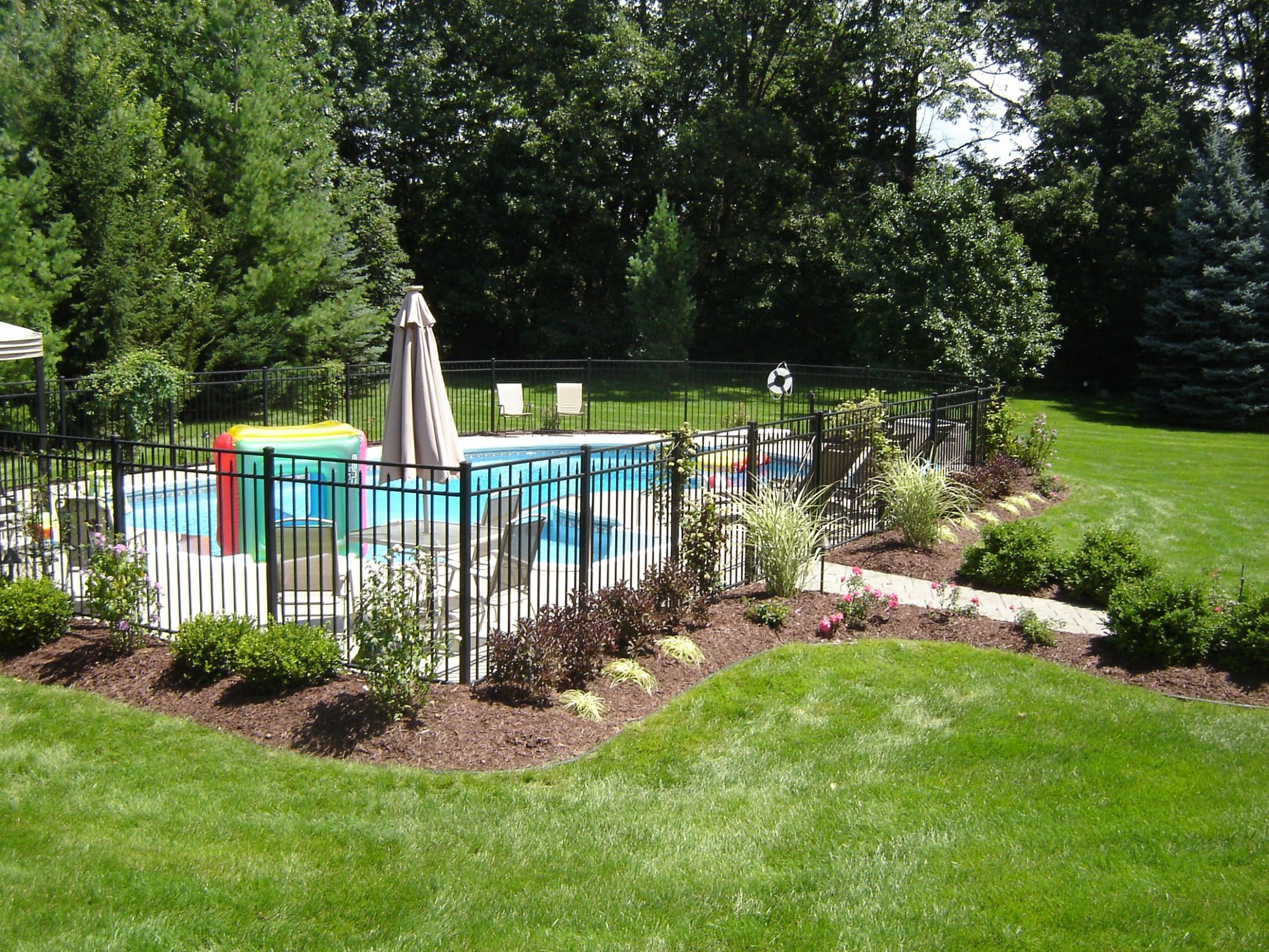 Landscaping Ideas Around Pool Fence ~ Home Landscaping Ideas - pool landscaping ideas