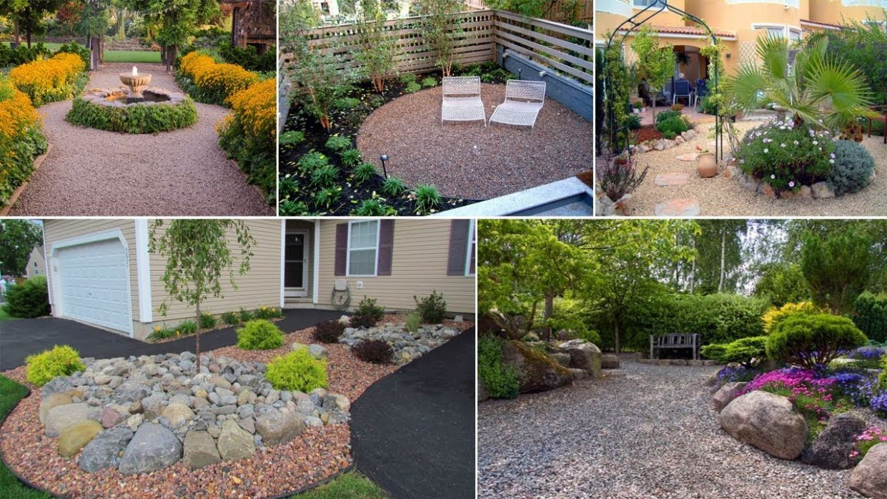 Landscaping with gravel and stones - 11 garden ideas for you | John Ideas - backyard ideas using gravel