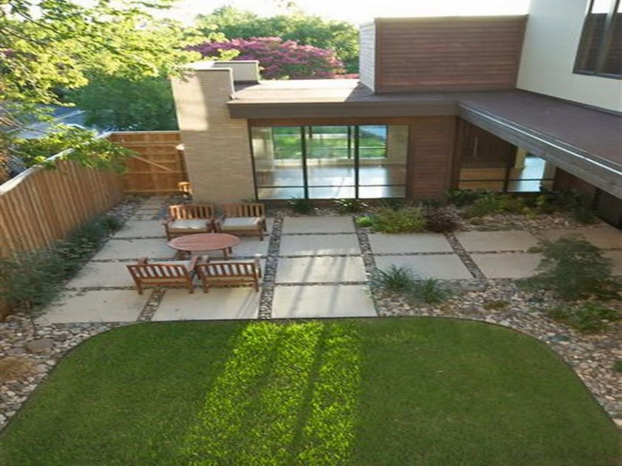 Large Patio Backyard Landscaping Inexpensive Outdoor Ideas Square ...