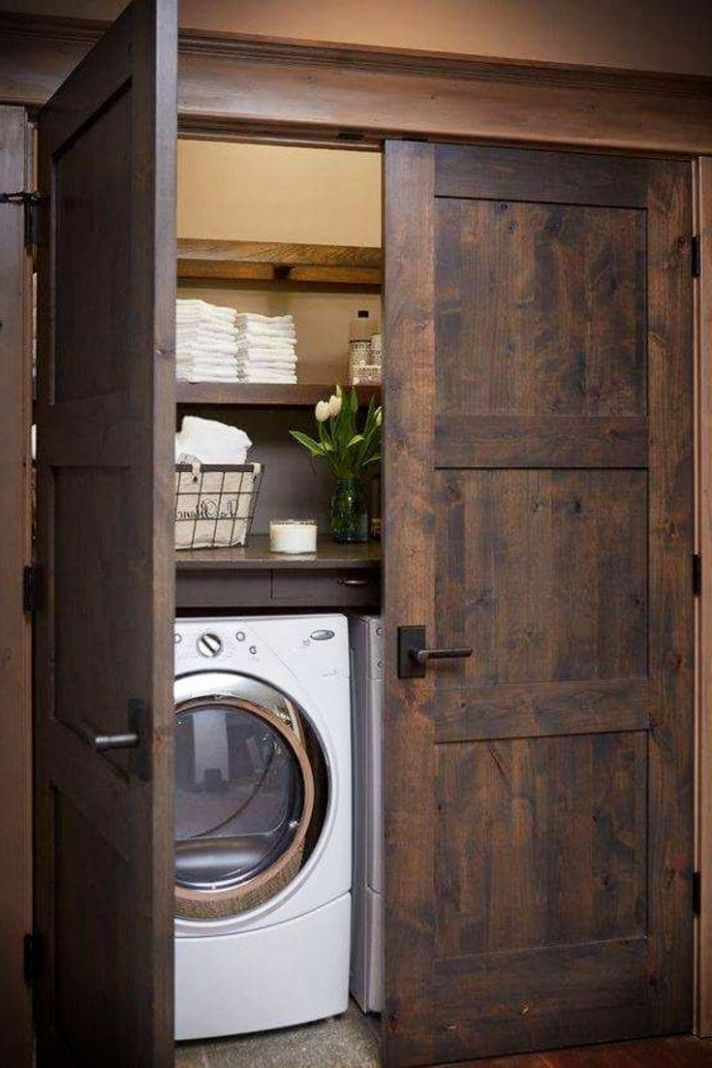 Laundry Nook Ideas We LOVE | Rustic laundry rooms, Laundry nook ...