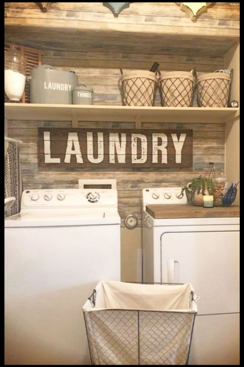 Laundry Nook Ideas We LOVE | Rustic laundry rooms, Small laundry ..