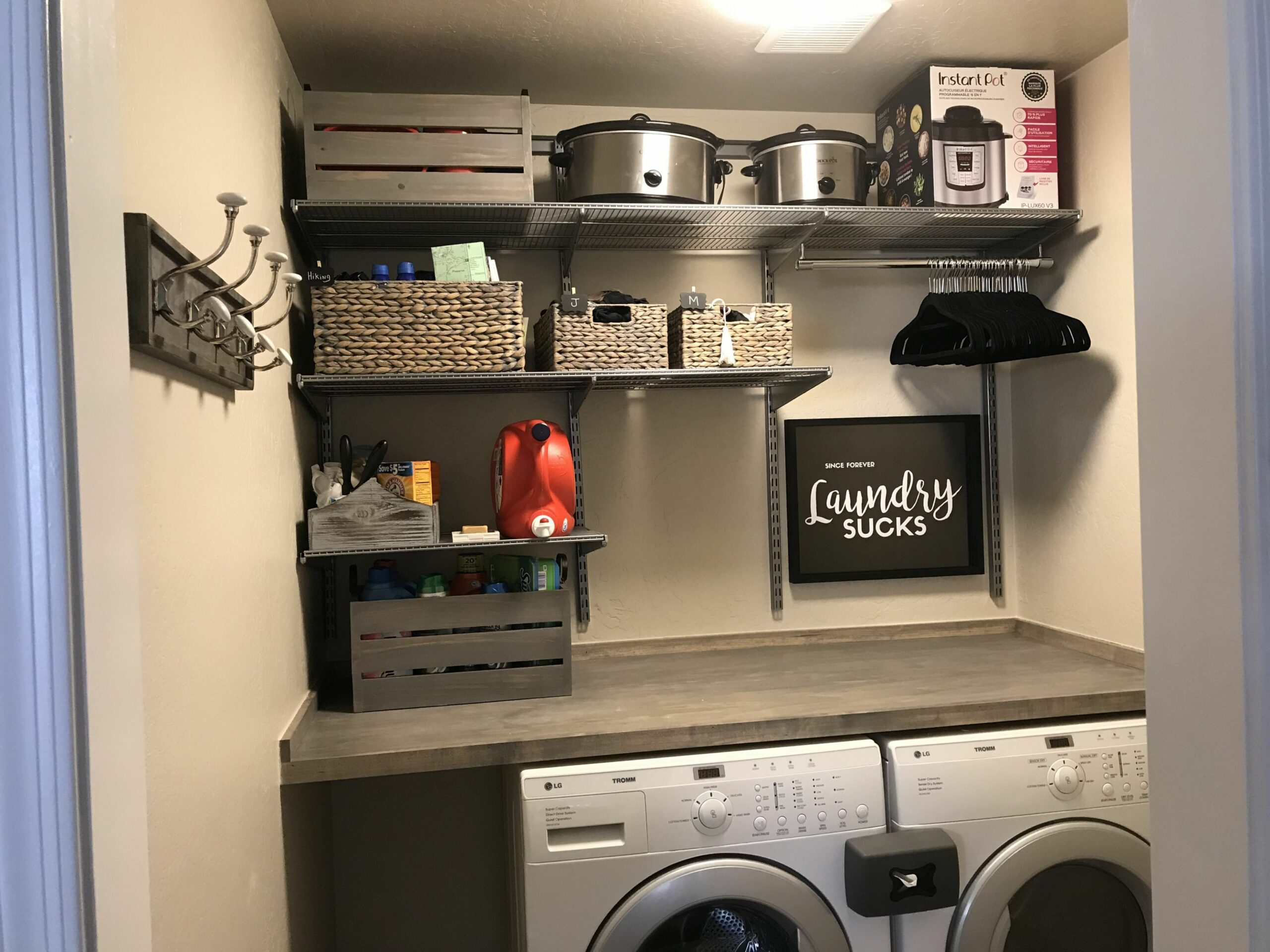 Laundry Room Complete. Elfa, The Container Store | Laundry room ...