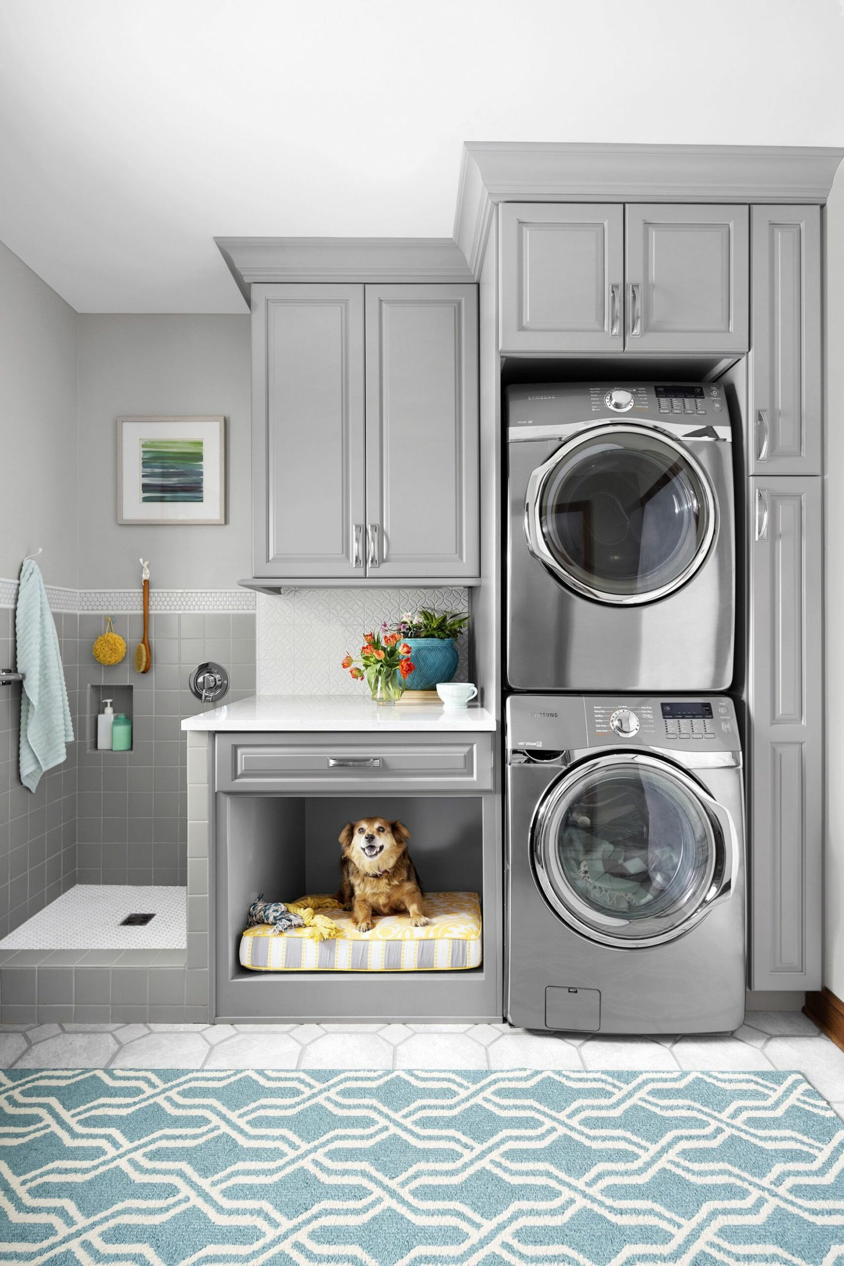 Laundry Room for Vertical Spaces | Laundry room layouts, Laundry ..