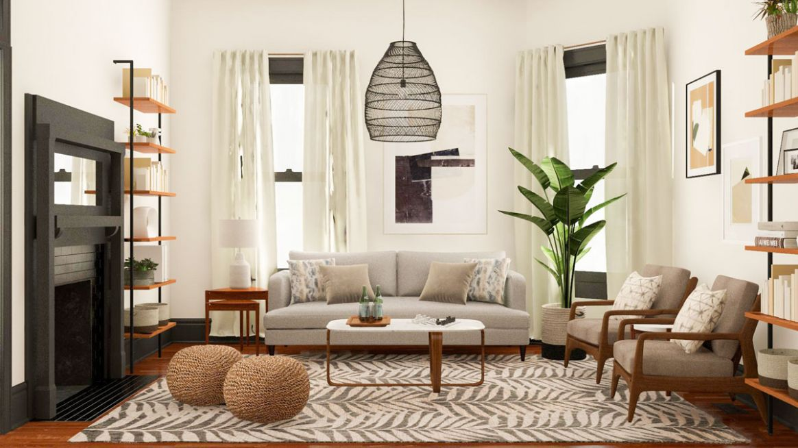 Layout Guide: A Small, Square Living Room, Two Functional Solutions