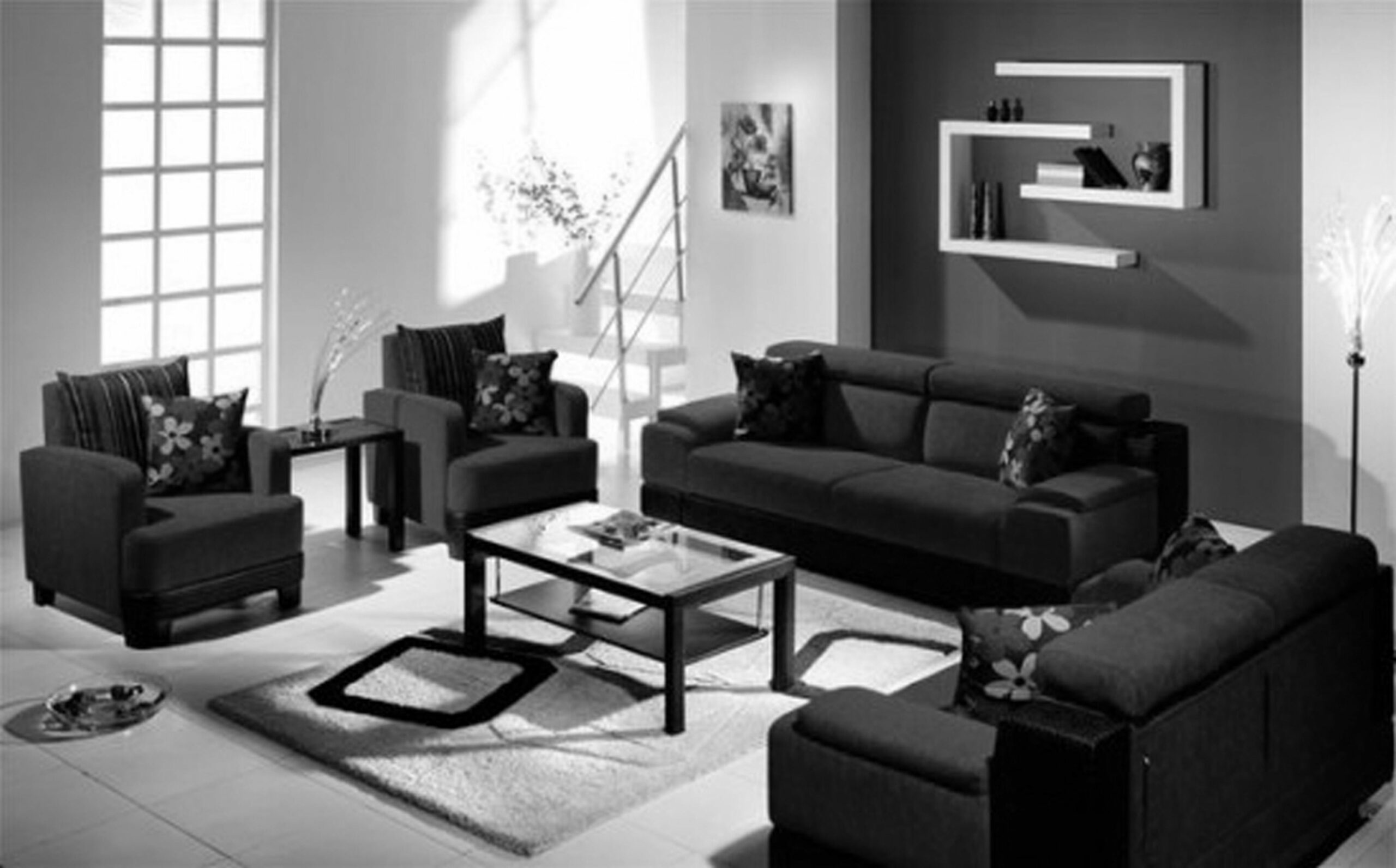 Leather Couch Decorating Ideas Living Room Colors With Sofa Brown ...